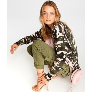 Anthro Sanctuary camouflage-print duster cardigan
